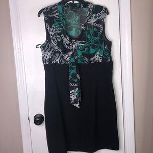 Dresses & Skirts - Black Teal & White Dress